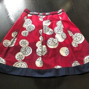Talbots red white & blue fit & flare skirt. Size 2